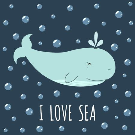 I love sea card with a cute whale. Cute print