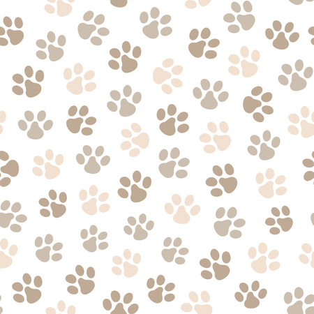 Paw seamless pattern. Great for surface design, wallpaper, web page background. Vector illustration