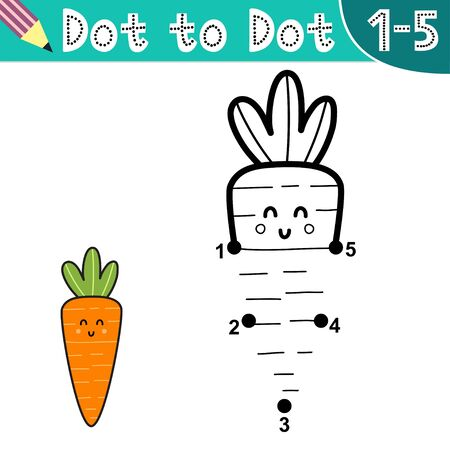 Connect the digits and draw a funny carrot
