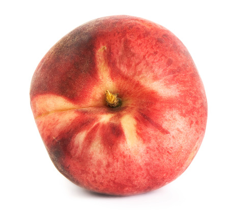 peach on a white background, isolate peaches on an isolated background