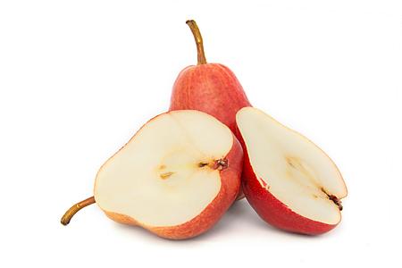 big, beautiful, bright, juicy PEAR, white background. ripe PEAR isolate. white background and bright fruit