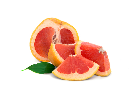 large, ripe grapefruit on white background, bright and very juicy citrus with no background. isolate 版權商用圖片