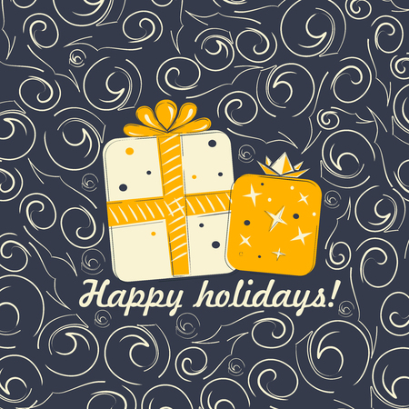 happy holidays: Happy Holidays vector illustration for holiday design Illustration
