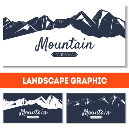 holiday background: Winter vector illustration for holiday design, poster, greeting card or invitation. Holiday background with mountains