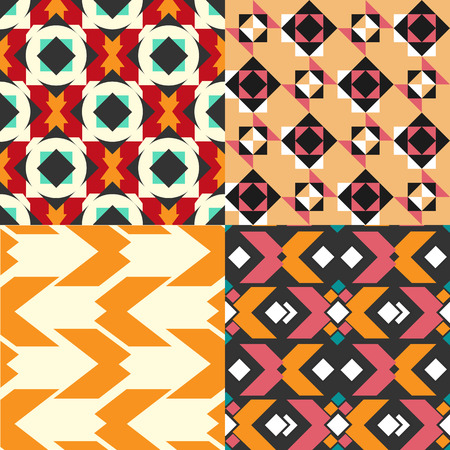 Geometric pattern set. Designer colorful seamless pattern for design, poster, greeting card or invitation