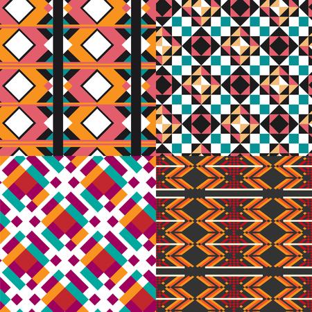 saemless: Geometric pattern set. Designer colorful seamless pattern for design, poster, greeting card or invitation