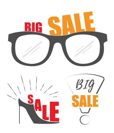 Big Verkauf Promo-Shop. Verkauf Hintergrund. Großer Verkauf. Big Sale und Rabatt bis zu 50