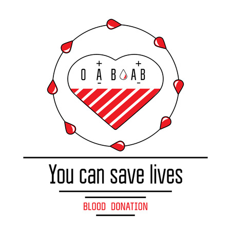 blood transfusion: Blood donation icons flat style. Donors day symbol. Medical vector