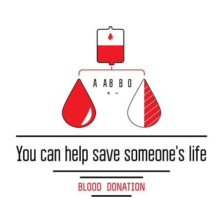 group of elements: Blood donation icons flat style. Donors day symbol. Medical vector