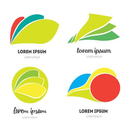 logotypes: Eco logotype.  Set of modern icon design elements. Best for identity and logotypes. Editable.