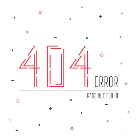 error: Illustration error page not found. 404 error connection.