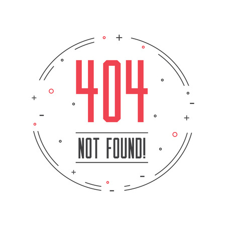 page not found: Illustration error page not found. 404 error connection.