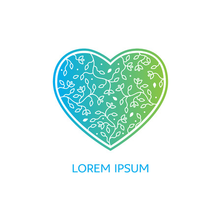 herbalist: Emblems for flowers shop, medicine, yoga centers, natural and organic products Illustration