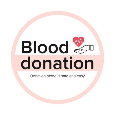 Blood donation. Donors day symbol. Medical vector Ilustración de vector