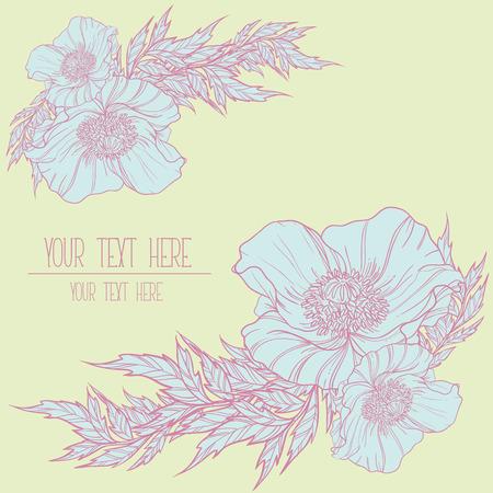 flores color pastel: Flores Vectores