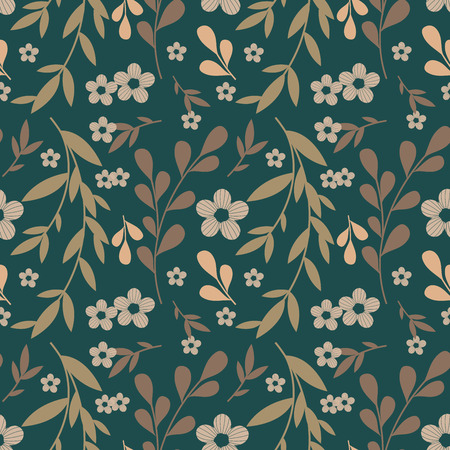 colored background: Flowers pattern Illustration