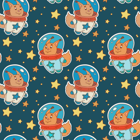 gravitational field: Astro squirrel pattern Illustration