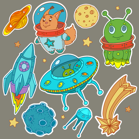invasion: Cosmo vector stickers
