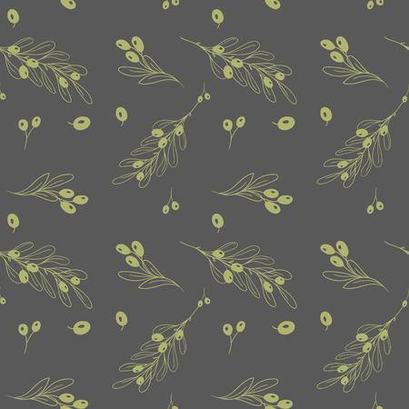 dark olive: Olive dark seamless vector pattern