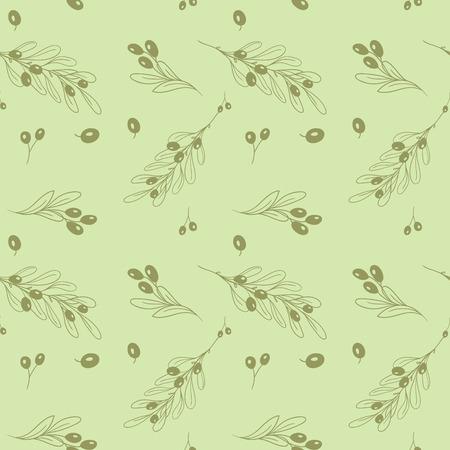 greek food: Olive light seamless vector pattern Illustration