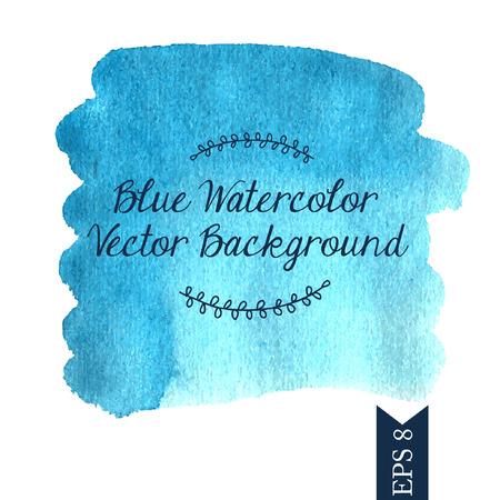 ilustration and painting: Blue watercolor vector background Illustration