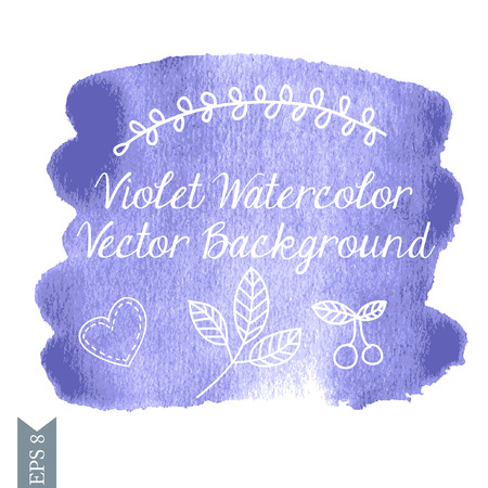 ilustration and painting: Violet watercolor vector back