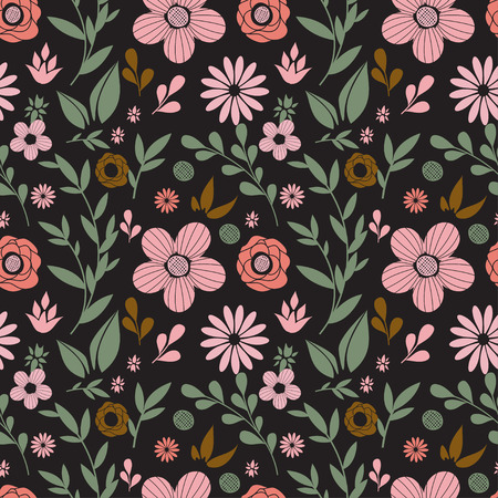 Vector flowers seamless pattern Vector