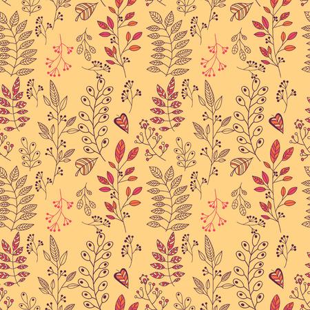 Foliage vector seamless pattern Vector