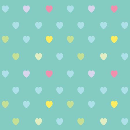 Cute heart seamless pattern