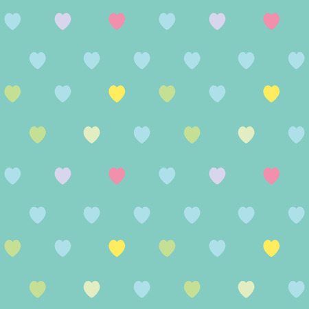 color pattern: Cute heart seamless pattern