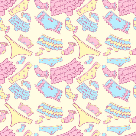 Underwear seamless pattern with other pants and socks Vector