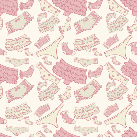 Underwear seamless pattern with other pants and socks Stock Illustratie