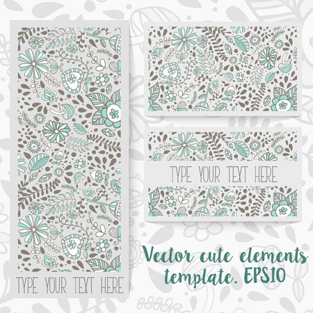 polygraphy: Lovely template vector set. For the web and polygraphy