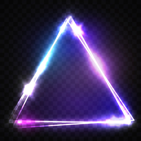 Glowing Triangle On Transparent Background. Electric Sign ...