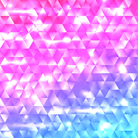 Glowing rainbow geometric gradient shapes mosaic background Illustration