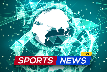 Sports News Live with World Map Africa and Europe.