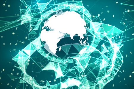 Global network connection background. Stock Photo