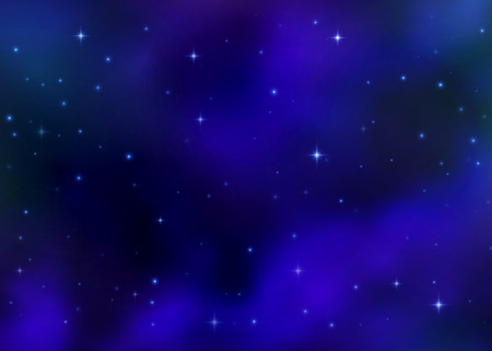 Abstract cosmic blue galaxy background. Colorful nebula, milky way cosmos energy and shining stars. Outer space. Bright colorful cosmos light. Sky vector illustration of Universe. Illustration