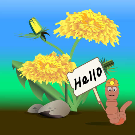 earthworm: The worm with welcome Board