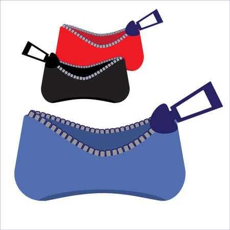 purses: Set purses with zipper assorted colors