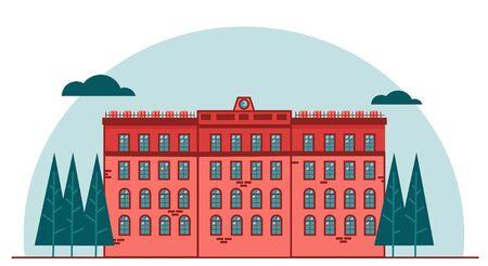 City building and trees vector illustration graphic design Illusztráció