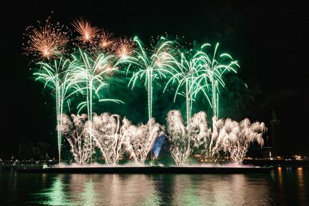 Cologne lights firework Stok Fotoğraf