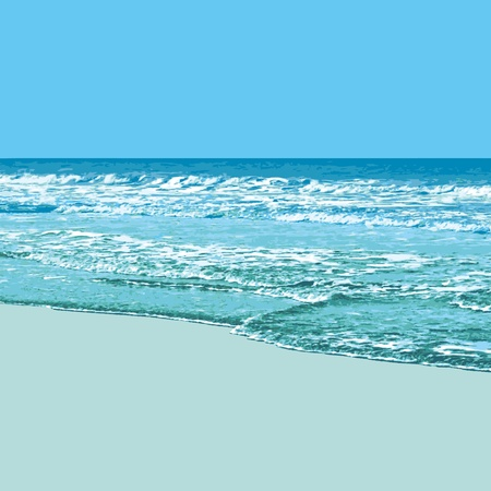 Sunny Beach Background Vector