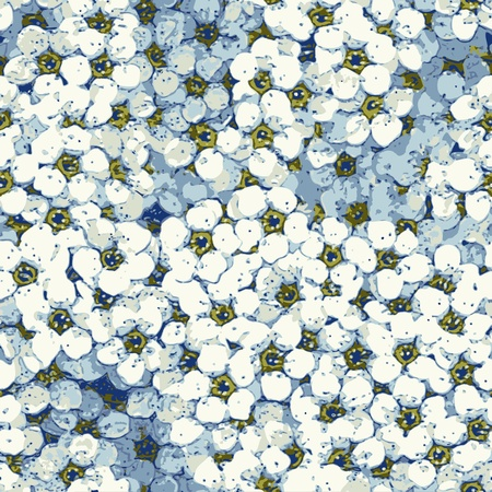 Seamless Flower Background Pattern Illustration