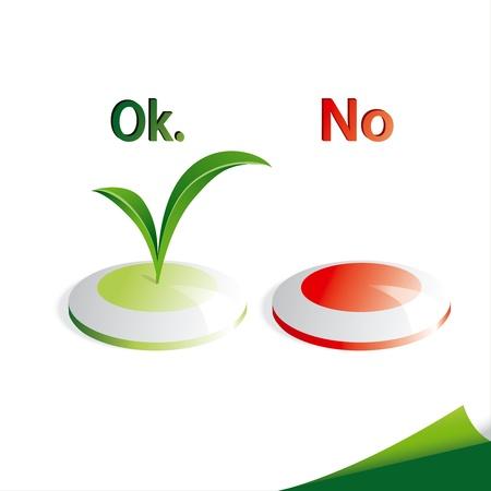 incorrecto: Brillante botones con el icono de semillas