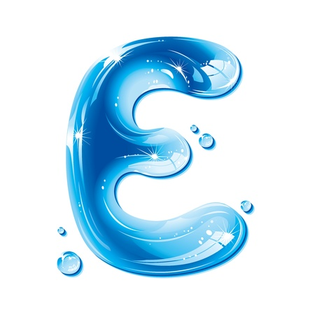 water liquid letter: ABC series - Water Liquid Letter - Capital E
