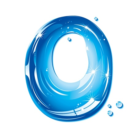 series: ABC series - Water Liquid Letter - Capital O