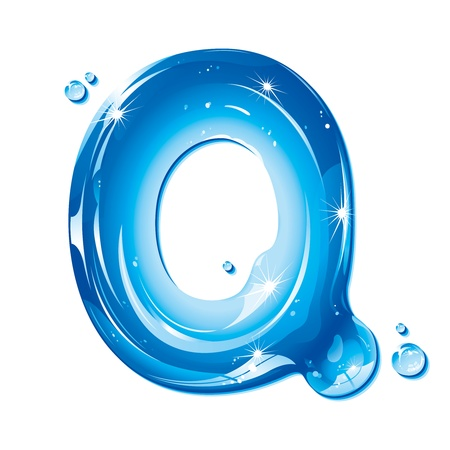 q: Serie ABC - lettera di acqua liquida - capitale q