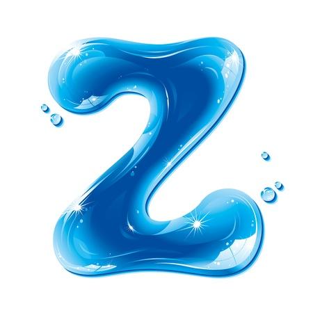ABC series - Water Liquid Letter - Capital Z Illustration