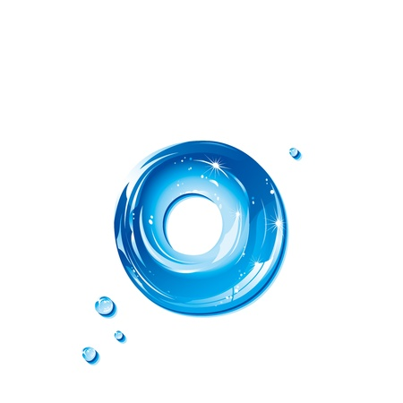 ABC series - Water Liquid Letter - Small Letter o Ilustracja